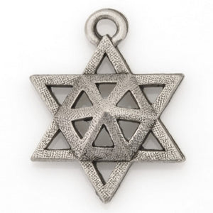 Pewter-15x20mm Pewter Star Of David Charm-Antique Silver-Quantity 1