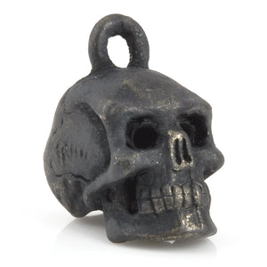Pewter-17x8mm Pewter Skull Head Charm-3 Dimensional