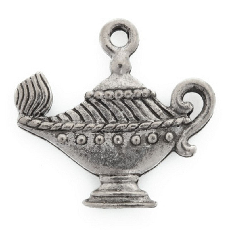 Pewter-20x21mm Genie'S Magic Lamp Charm-Antique Silver-Quantity 1