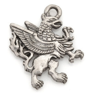 Pewter-23x20mm Griffin Charm-Antique Silver-Quantity 1