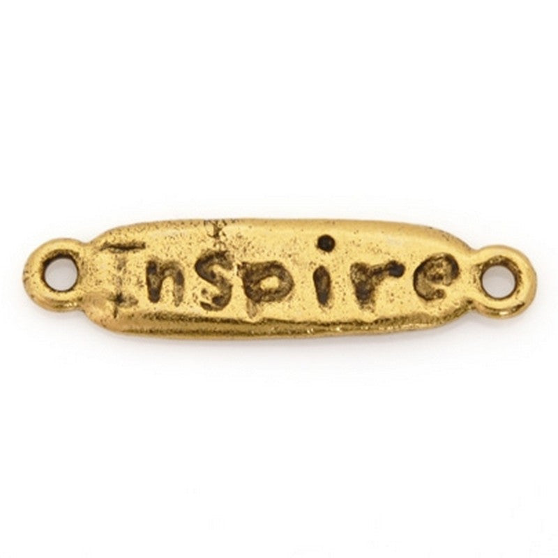 "Pewter-24x7mm ""Inspire""-Connector-Antique Gold-Quantity 1"