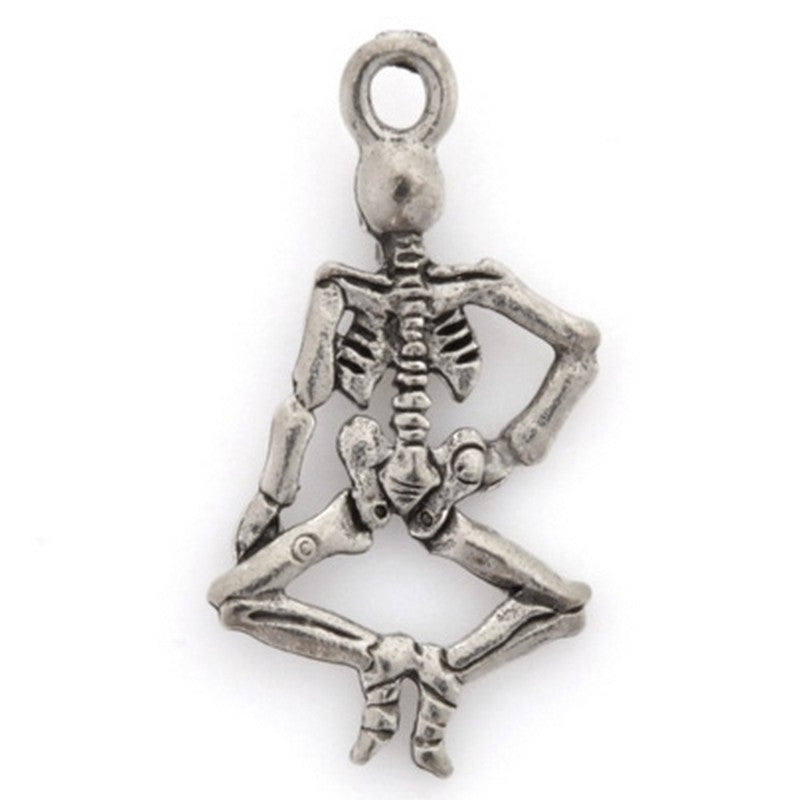 Pewter-26x16mm Skeleton Pendant-Antique Silver-Quantity 1