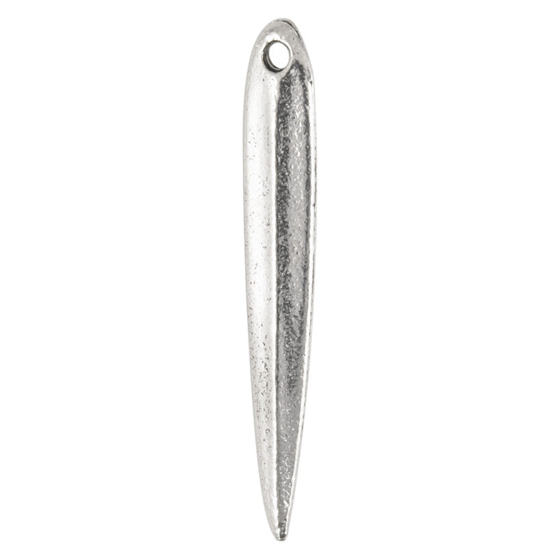Pewter-4x26mm Willow Leaf Dagger-Antique Silver