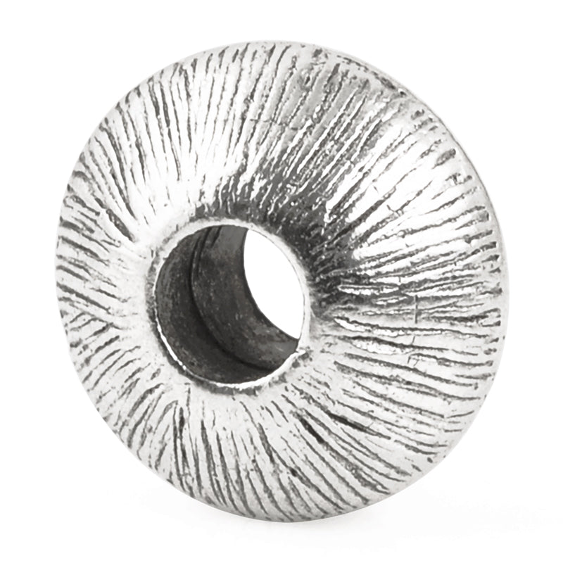 Pewter-7x15mm Etched Saucer Bead
