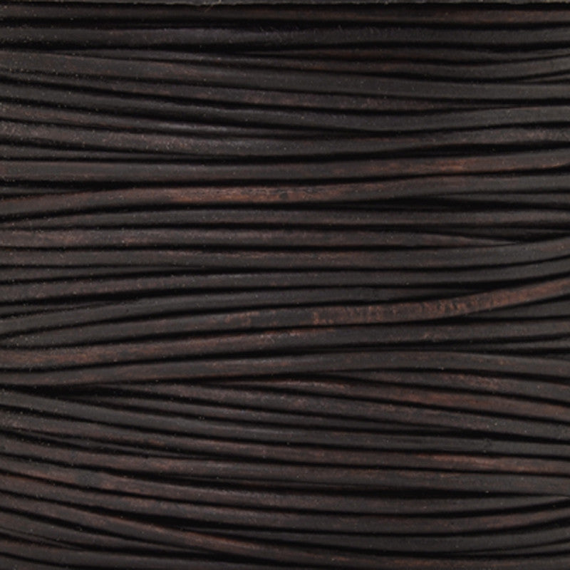 Leather Cord-Round-Natural Dark Brown