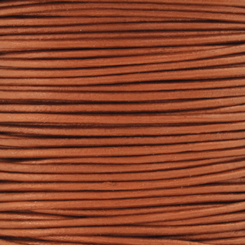 Leather Cord-0.5mm Round-Metallic Dusty Brown