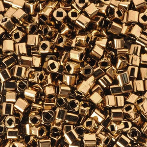 Seed Beads-1.5mm Cube-221 Bronze-Toho-7 Grams