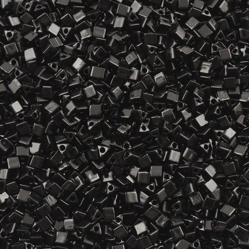 Seed Beads-10/0 Sharp Triangle-401 Black-Miyuki-7 Grams