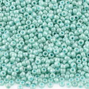 Seed Beads-11/0 Round-1611 Opaque Lustered Lagoon-Toho