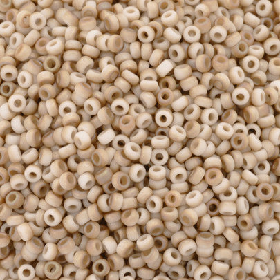 Seed Beads-11/0 Round-402F White Opaque Celsian Matte-Miyuki