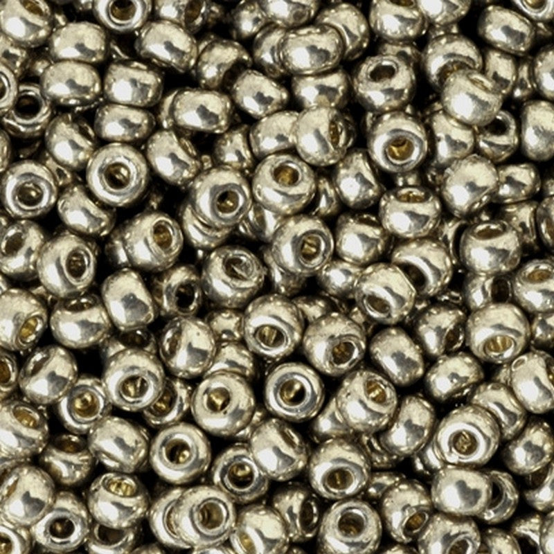Seed Beads-11/0 Round-4221 Duracoat Galvanized Light Pewter