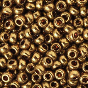 Seed Beads-11/0 Round-457L Metallic Light Bronze-Miyuki-16 Grams