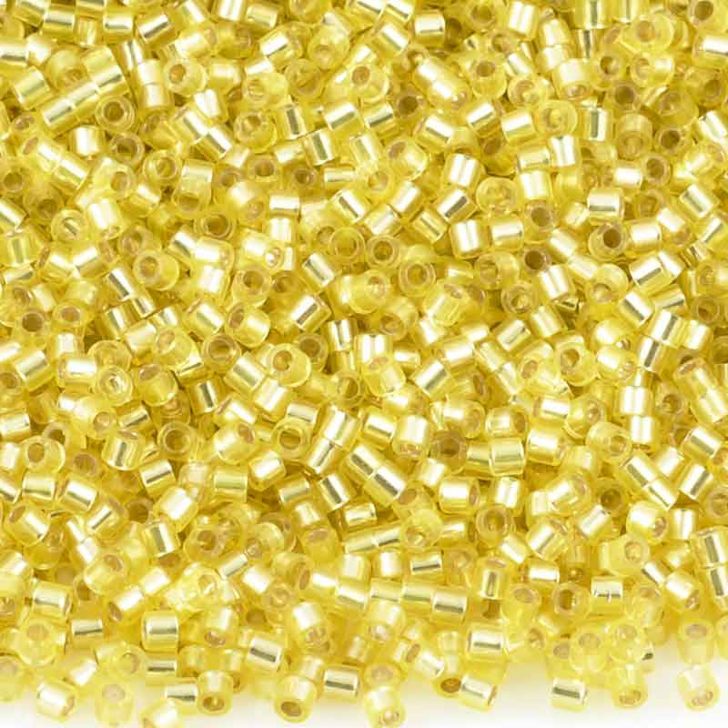 Seed Beads-15/0 Delica-145 Silver Lined Yellow-Miyuki