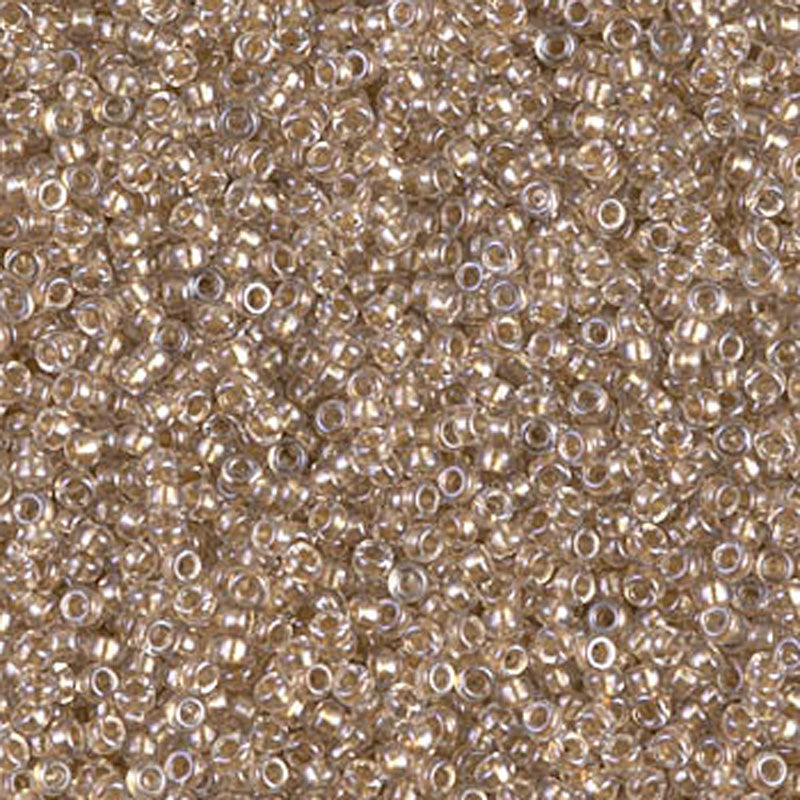 Seed Beads-15/0 Round-1521 Sparkling Beige Lined Crystal-Miyuki