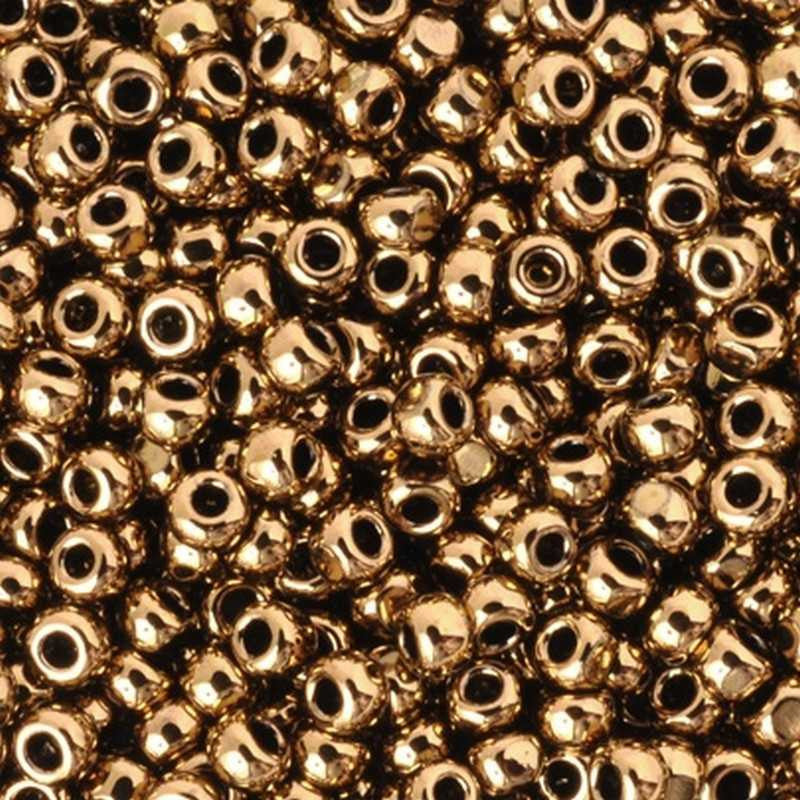Seed Beads-15/0 Round-221 Bronze-Toho-16 Grams
