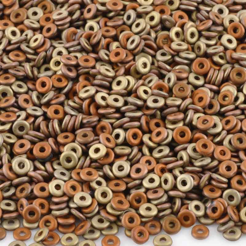 Seed Beads-3.8mm O Beads-3109 Jet Matte Khaki-Czech