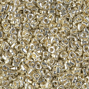 Seed Beads-2.8mm Triangle Spacer-4201 Duracoat Galvanized Silver
