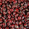 Seed Beads-2x4mm MiniDuo-223 Opaque Red Picasso