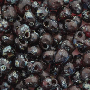 Seed Beads-3.4mm Drop-4504 Transparent Ruby Picasso-Miyuki