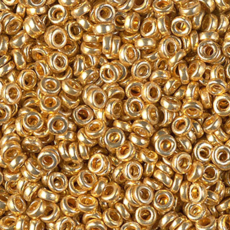 Seed Beads-3mm Spacer-4202 Duracoat Galvanized Gold-Miyuki