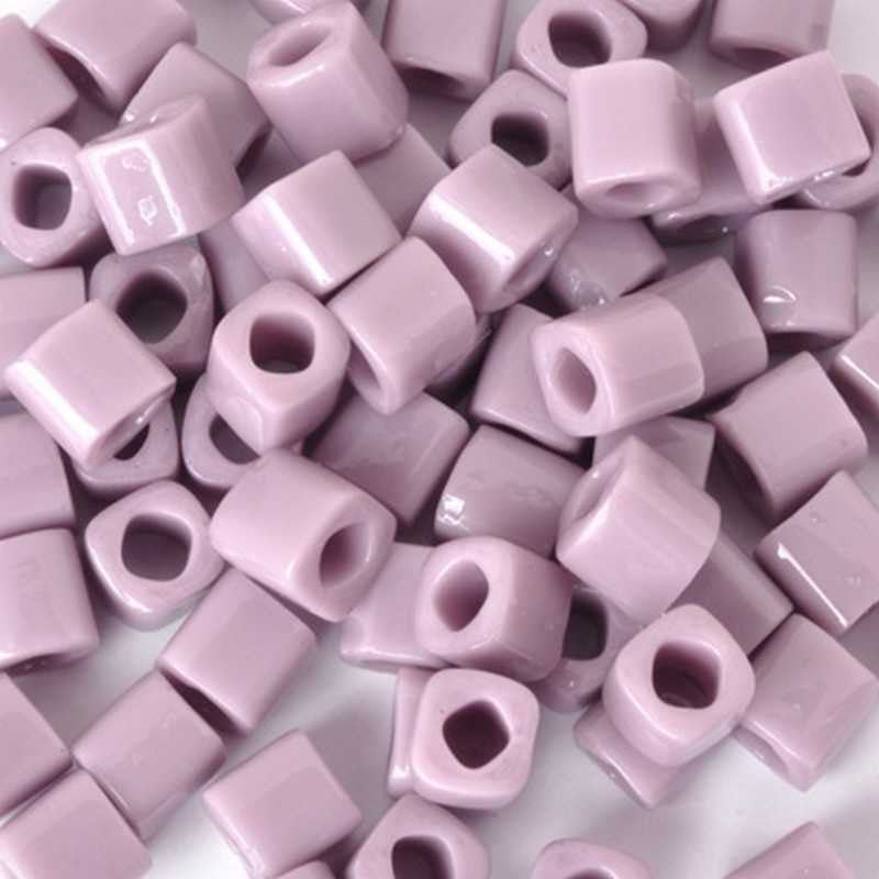Seed Beads-4mm Cube-52 Opaque Lavender-Toho-7 Grams
