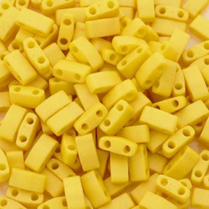 Seed Beads-5mm 1/2 Cut Tila-2311 Matte Opaque Canary-Miyuki-7 Grams