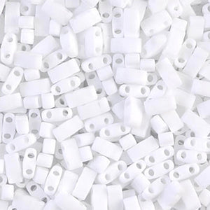 Seed Beads-5mm 1/2 Cut Tila-402F Matte White