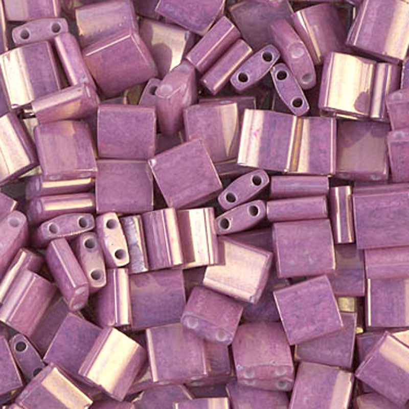 Seed Beads-5mm Tila-1867 Opaque Dark Orchid Luster-Miyuki