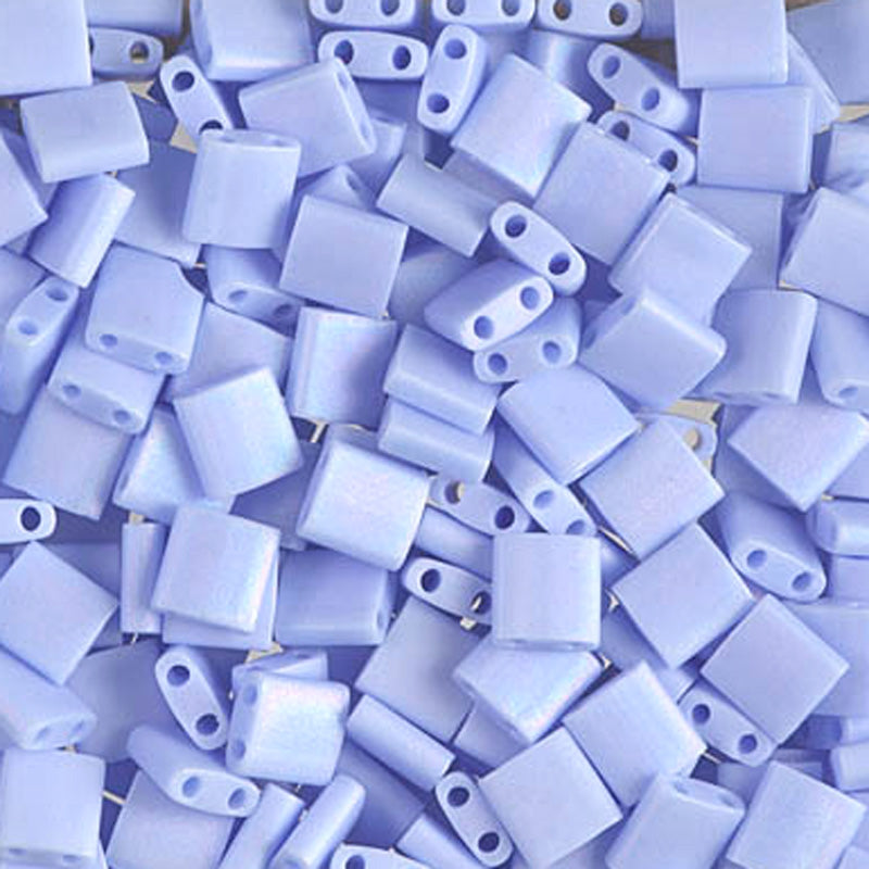 Seed Beads-5mm Tila-494FR Matte OP Light Periwinkle AB