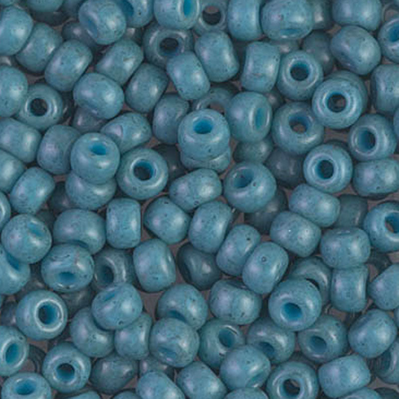 Seed Beads-6/0 Round-1685 Dyed Semi-Frosted Opaque Shale