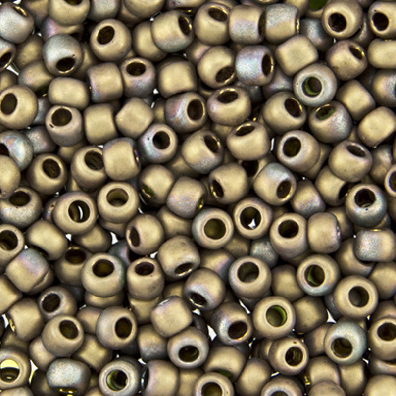 Seed Beads-6/0 Round-Y864F Frosted Oxidized Bronze Clay
