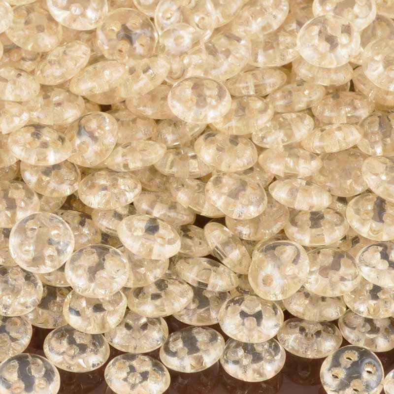Seed Beads-6mm Czechmates QuadraLentil-101 Luster Transparent Champagne