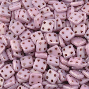Seed Beads-6mm Czechmates QuadraTile-203 Luster Opaque Lilac