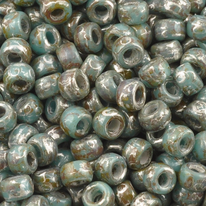 Seed Beads-7/0 Matubo-48 Sage Green Luster-Czech-16 Grams