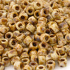 Seed Beads-8/0 Matubo-13 Chalk Travertine Dark-Czech