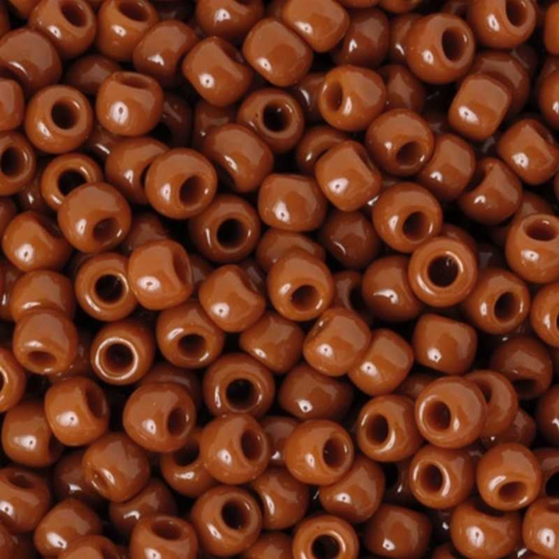 Seed Beads-8/0 Round-46L Opaque Terra Cotta-Toho-16 Grams