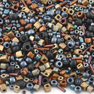Seed Beads-Various Shapes-04 Flat Iron-Multi Mix-Miyuki