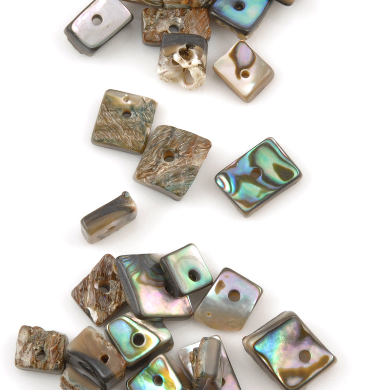 Shell-4-12mm Abalone Chip Bead-Center Hole Drilled