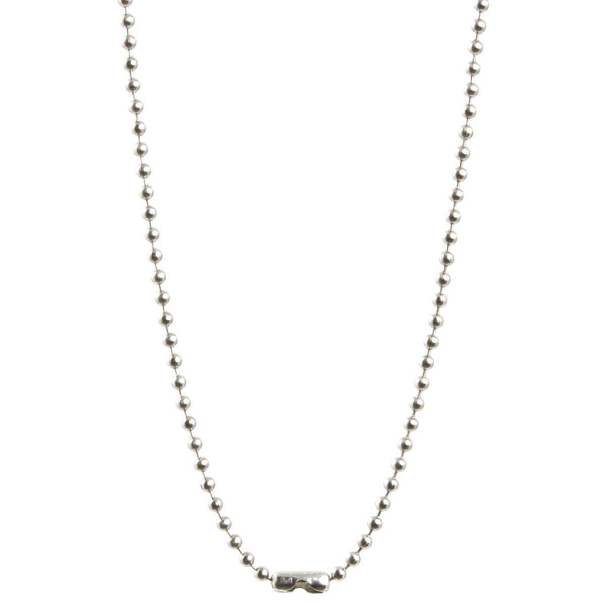 Simple-Letter T-Antique Silver Ball Chain Necklace