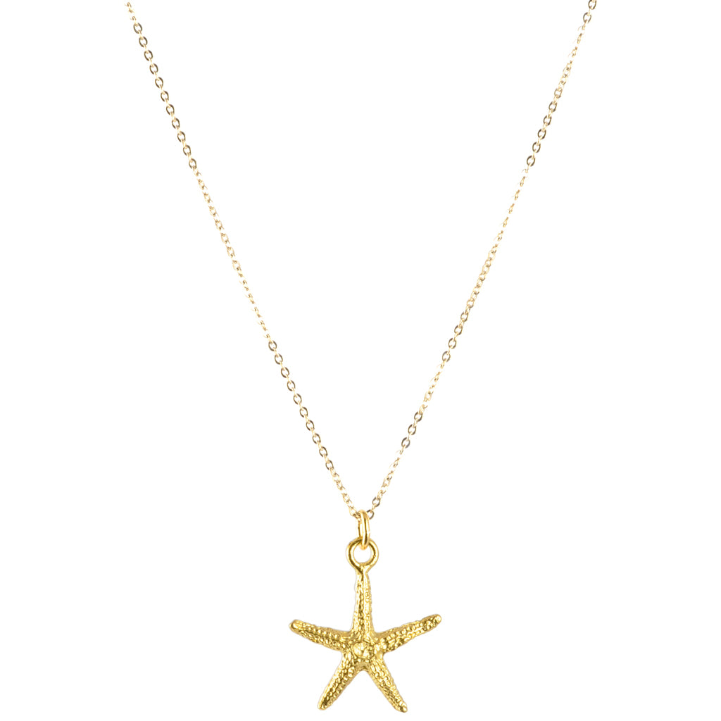 Finished Jewelry-Starfish Gold Charm Necklace