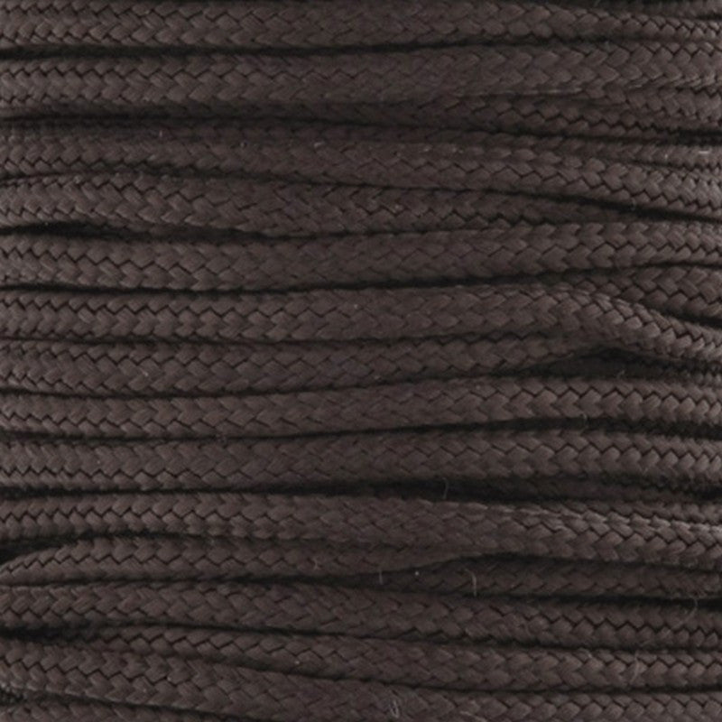 Supplies-1.5mm Nylon Cord-Dark Brown-5 Meters