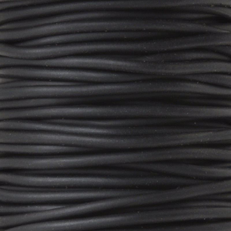 Supplies-1.5mm Rubber Cording-Black-Solid Core