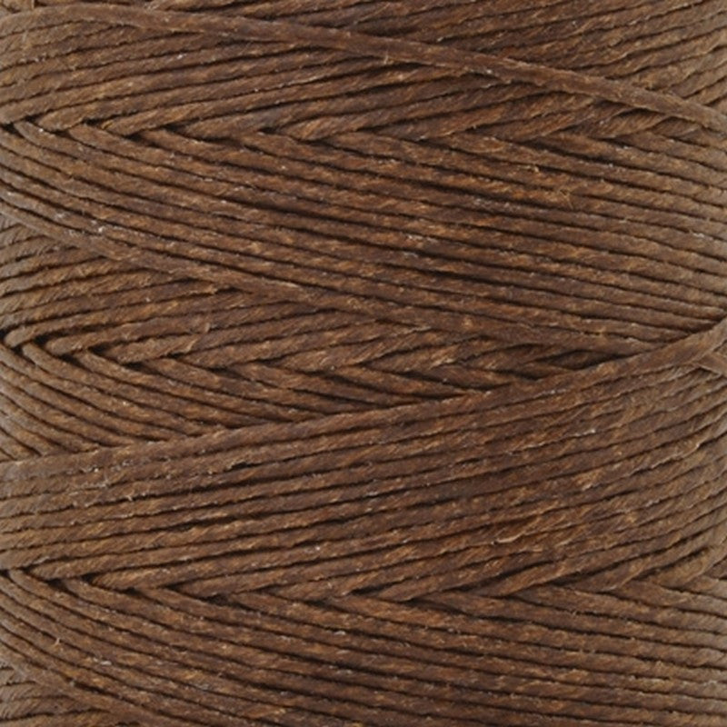Supplies-12-Ply Waxed Irish Linen-Walnut Brown-10 Yards