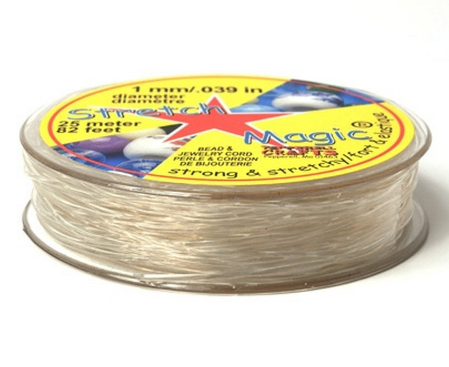 Supplies-1mm Stretch Magic Cord-Clear-25 Meters