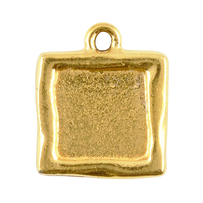 Supplies-21x18mm Square Swirl Bezel-Antique Gold