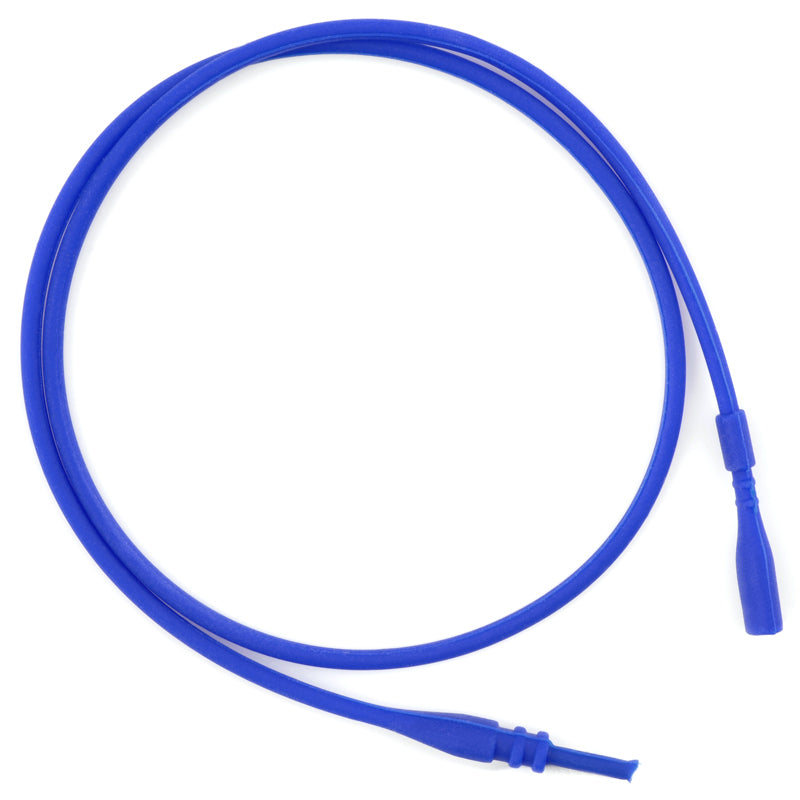 Supplies-2mm Silicone Rubber Necklace-Blue-16.5 Inches-Quantity 1