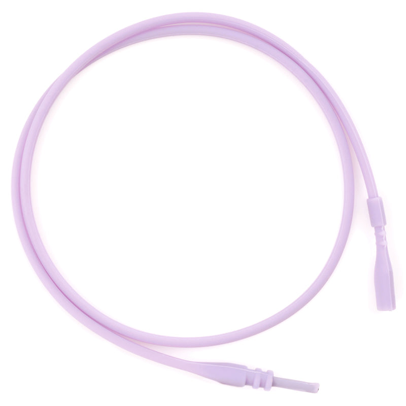 Supplies-2mm Silicone Rubber Necklace-Purple-16.5 Inches-Quantity 1