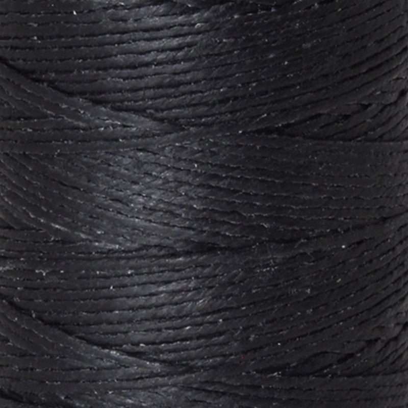 Supplies-3-Ply Waxed Irish Linen-Black-120 Yard Spool