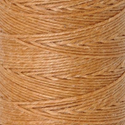 Supplies-3-Ply Waxed Irish Linen-Butterscotch