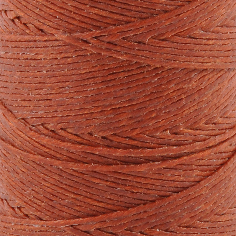 Supplies-3-Ply Waxed Irish Linen-Dark Rust